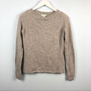 Adrienne Vittadini cashmere gray pullover sweater